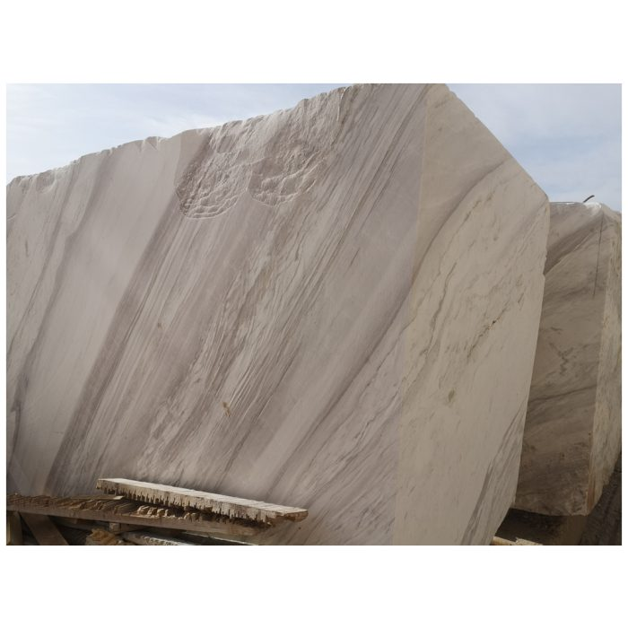 Volakas Marble with grey veins blocks